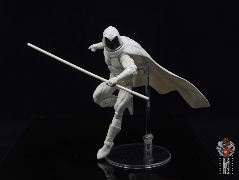 marvel legends moon knight figure review - action stance