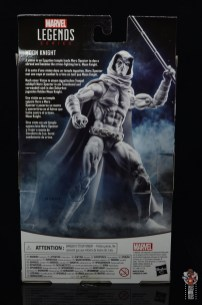 marvel legends moon knight figure review - package rear