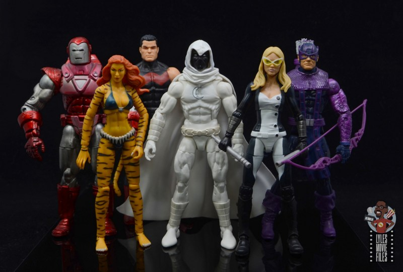 marvel legends moon knight figure review - standing with west coast avengers