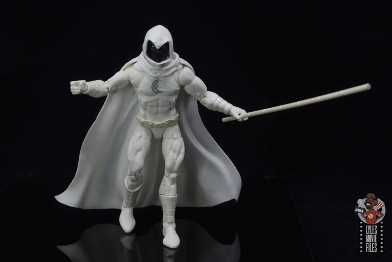 marvel legends moon knight figure review - walking along with staff
