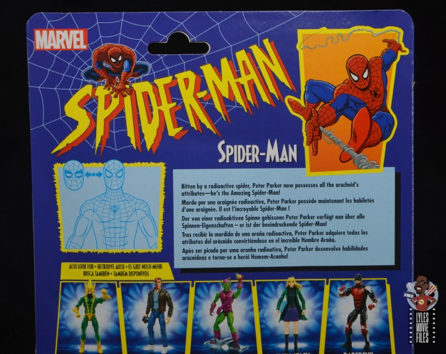 marvel legends retro spider-man figure review - package bio