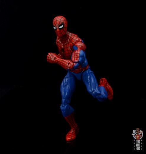 marvel legends retro spider-man figure review - running