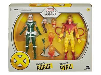 marvel legends rogue and pyro two-pack - package front