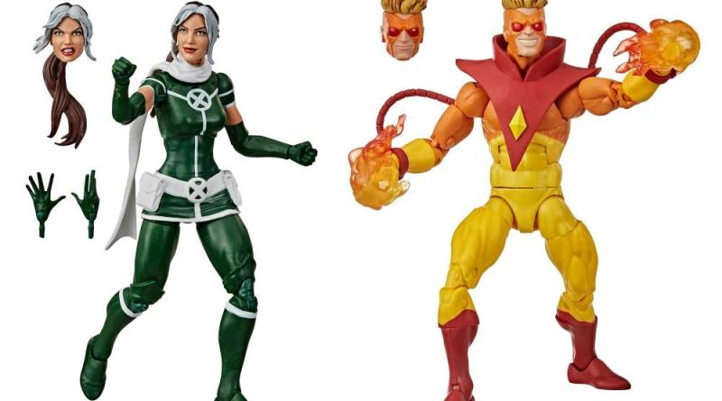 marvel legends rogue and pyro two-pack - rogue and pyro