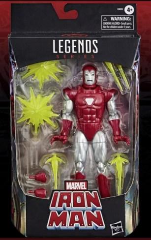 marvel legends silver centurion iron man package