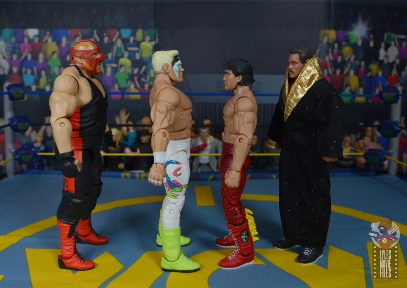 wwe elite 62 sting figure review - facing vader, steamboat and rude