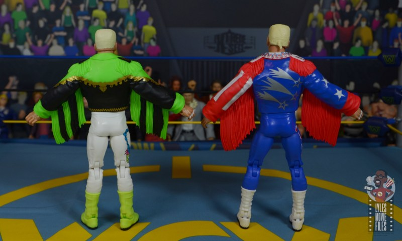 wwe elite 62 sting figure review - jacket comparison with great american bash 90 sting rear
