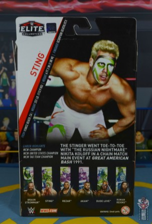 wwe elite 62 sting figure review - package rear