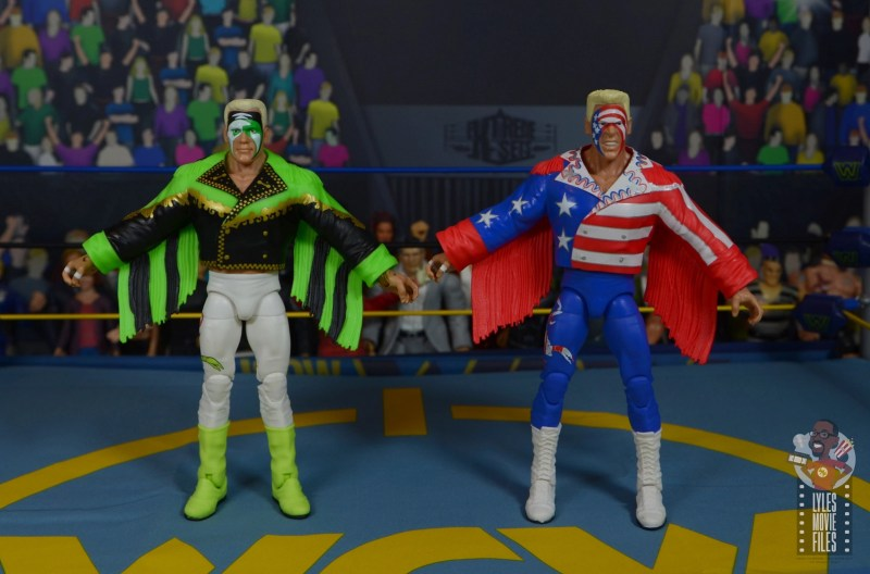 wwe elite 62 sting figure review - ring jacket comparison with great american bash sting
