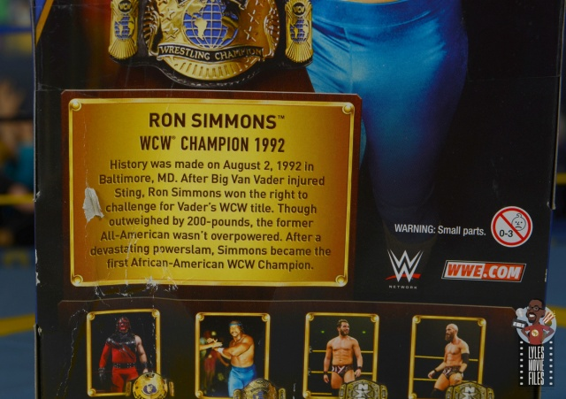 wwe elite hall of champions ron simmons figure review - package bio
