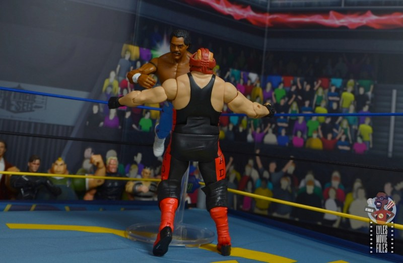 wwe elite hall of champions ron simmons figure review - shoulder tackle to vader