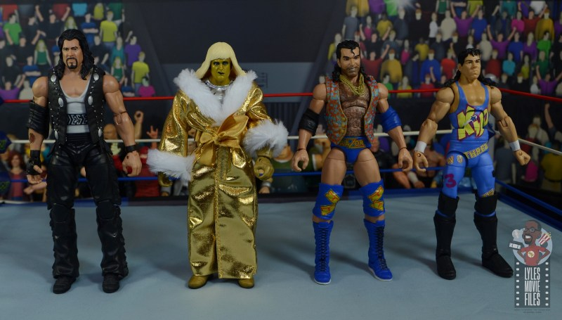 wwe legends 7 razor ramon figure review - scale with diesel, goldust and 123 kid
