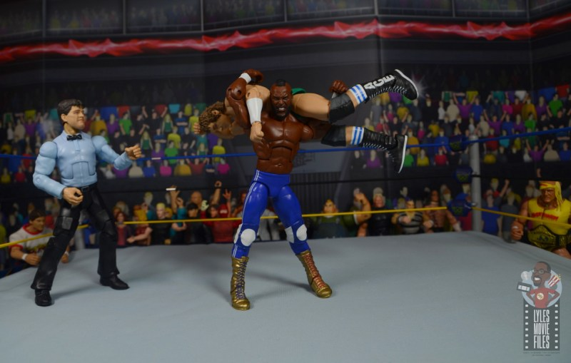 wwe sdcc elite mr. t figure review -airplane spin to cowboy bob orton