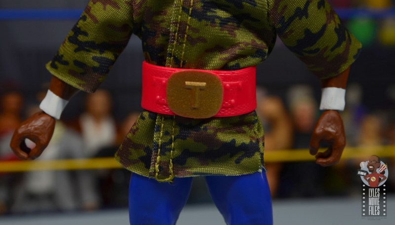 wwe sdcc elite mr. t figure review - belt closeup