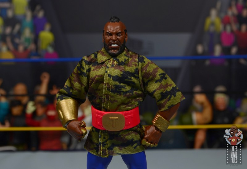 wwe sdcc elite mr. t figure review - jacket detail