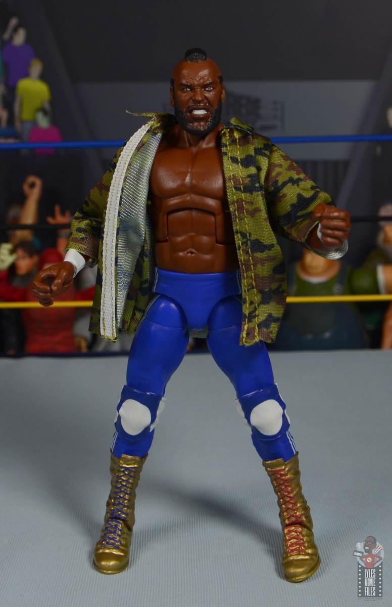 wwe sdcc elite mr. t figure review - jacket partially off