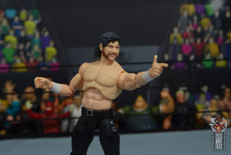 aew unrivaled kenny omega figure review - shooting aim