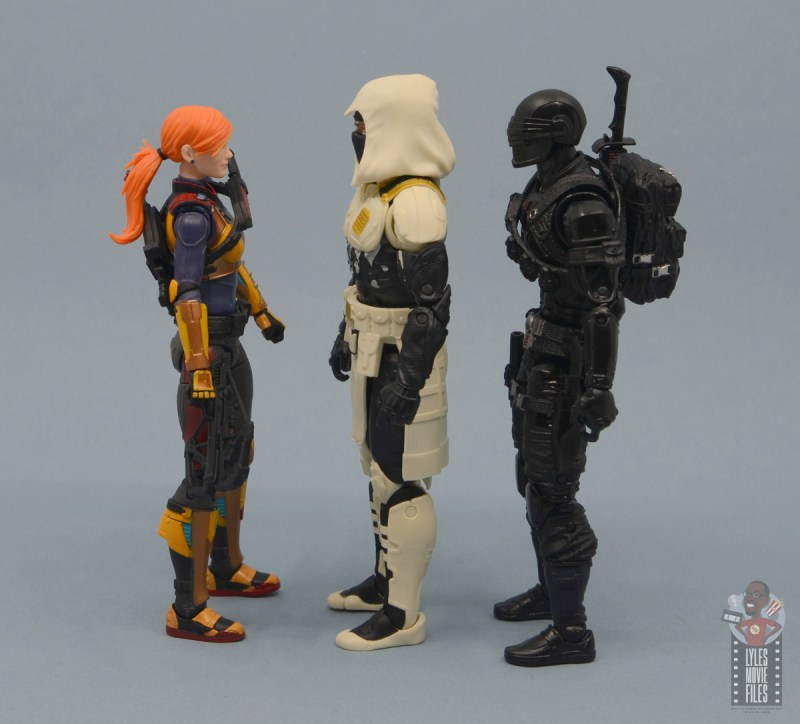 g.i. joe classified series arctic storm shadow figure review -facing scarlett and snake eyes