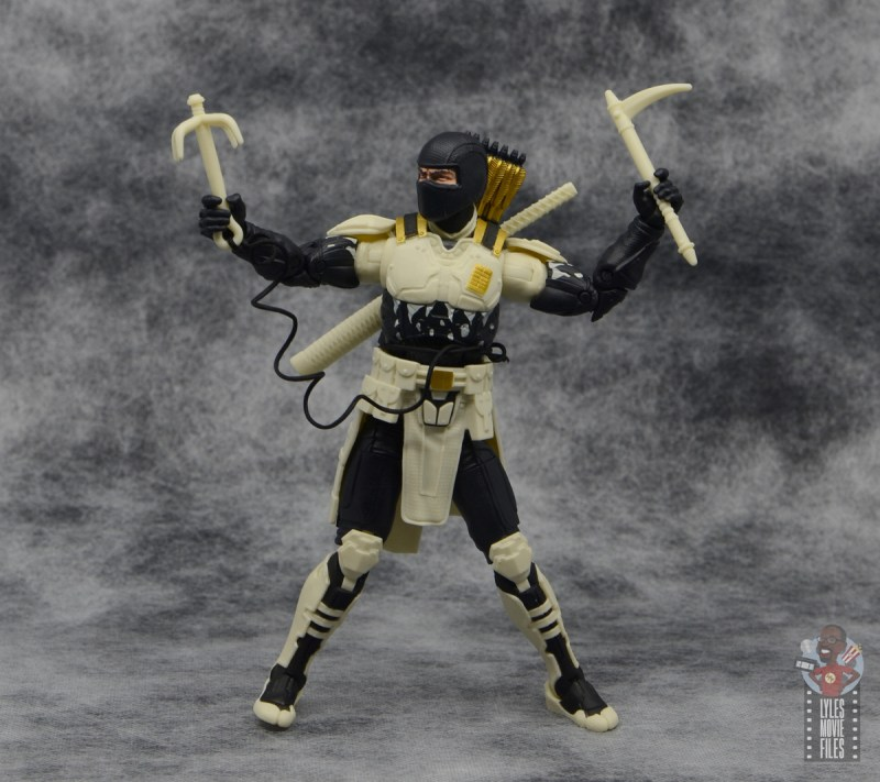 g.i. joe classified series arctic storm shadow figure review - with grapple hook and piton