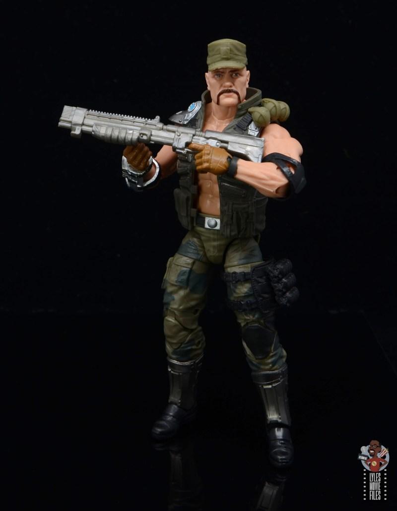 g.i. joe classified series gung-ho figure review -raising shotgun blaster