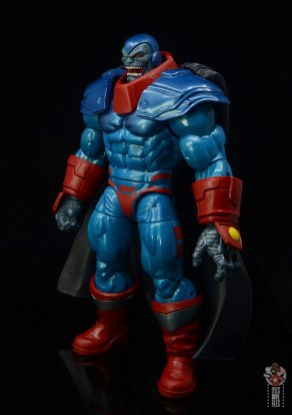 marvel legends apocaylpse - apocalypse figure review - left side