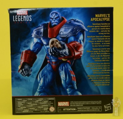 marvel legends apocaylpse - apocalypse figure review -package rear