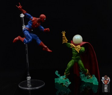marvel legends retro mysterio figure review - face off with spider-man