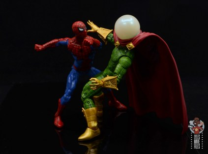 marvel legends retro mysterio figure review - getting knocked out by spider-man