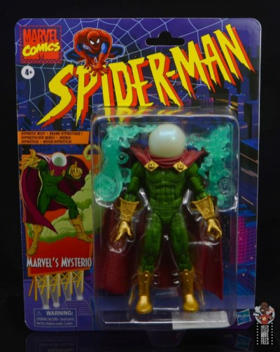 marvel legends retro mysterio figure review - package front