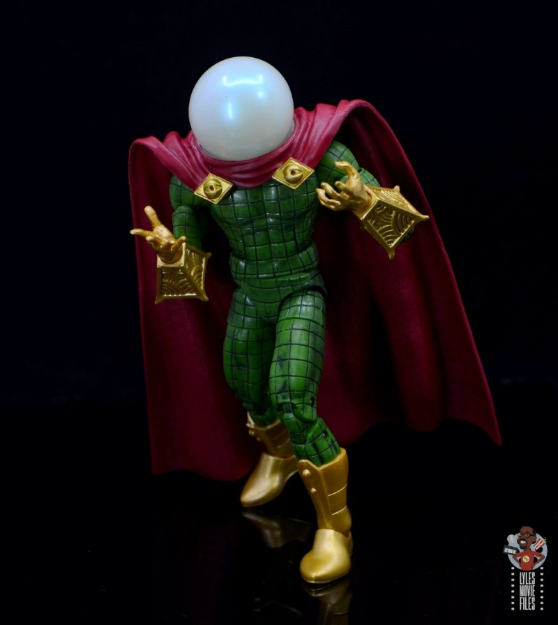 marvel legends retro mysterio figure review - turning