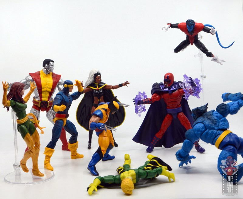 marvel legends storm and thunderbird figure review - x-men vs magneto