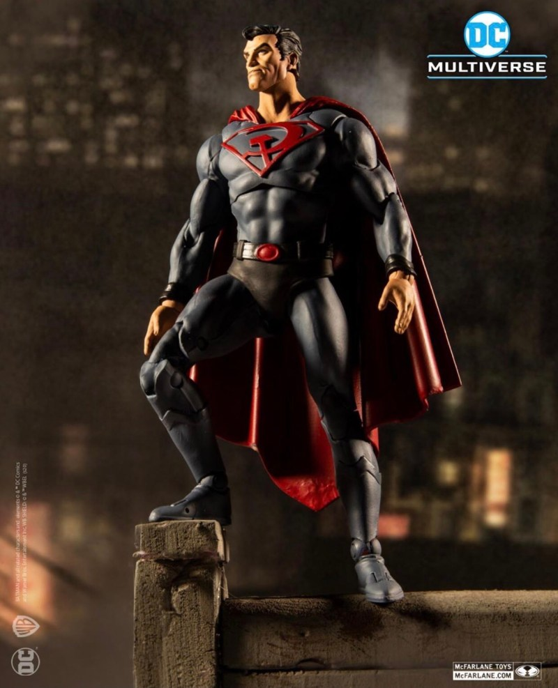 mcfarlane toys dc multiverse red son superman