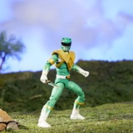 mighty morphin power rangers green ranger figure - battle ready