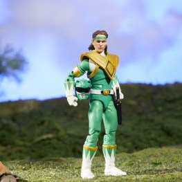 mighty morphin power rangers green ranger figure - helmet off