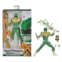 mighty morphin power rangers green ranger figure - package with figure