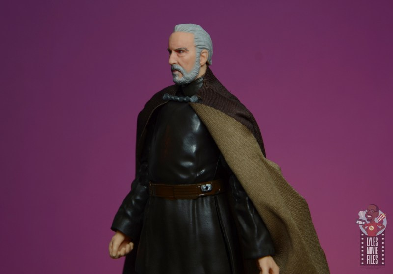 star wars the black series count dooku figure review - close portrait