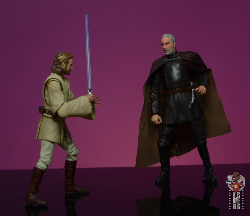 star wars the black series count dooku figure review - face off with obi-wan kenobi