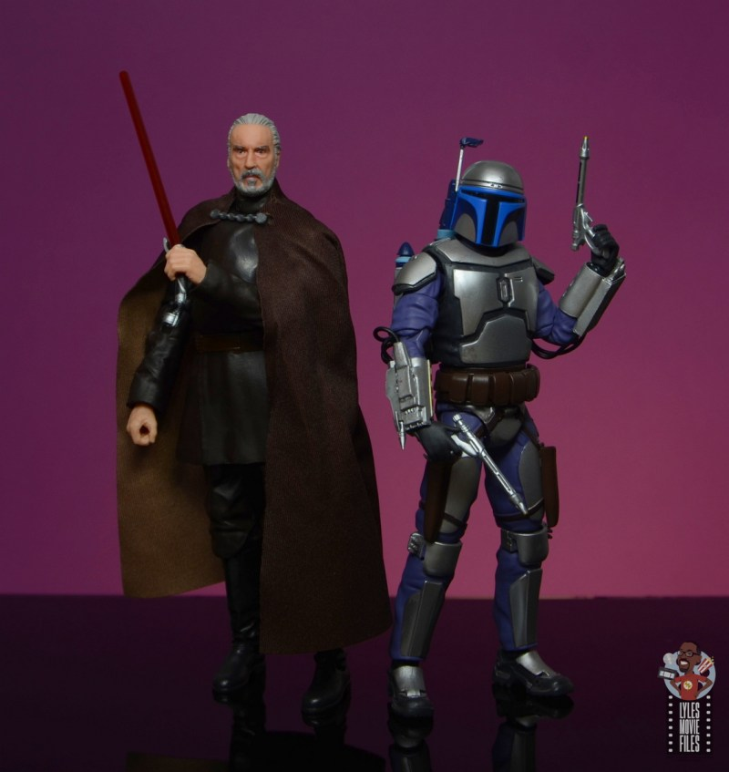star wars the black series count dooku figure review - scale with the sh figuarts jango fett