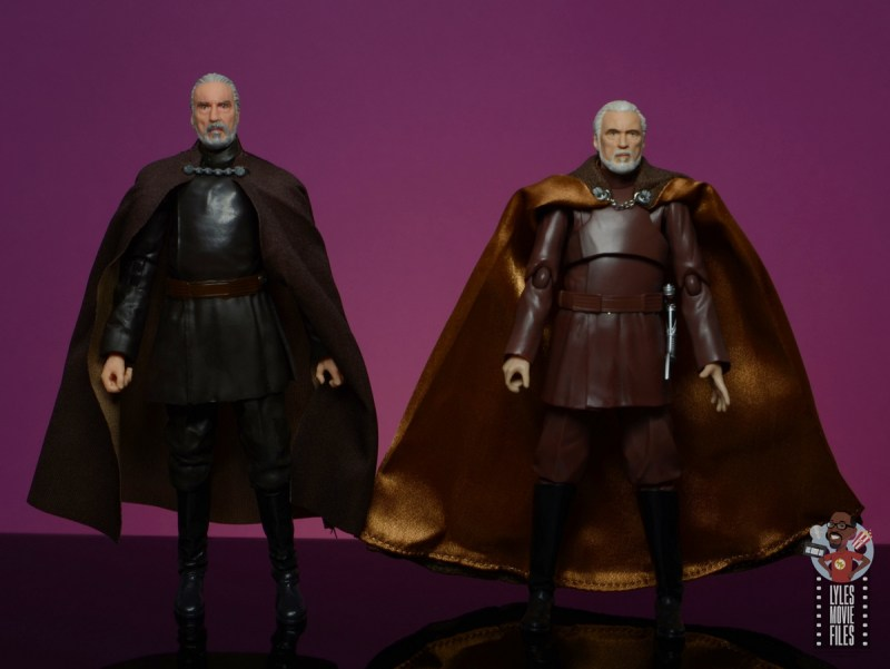 star wars the black series count dooku figure review - scale with the shfiguarts count dooku