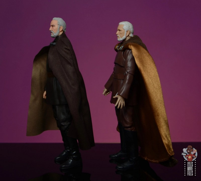 star wars the black series count dooku figure review - side comparison with sh figuarts count dooku