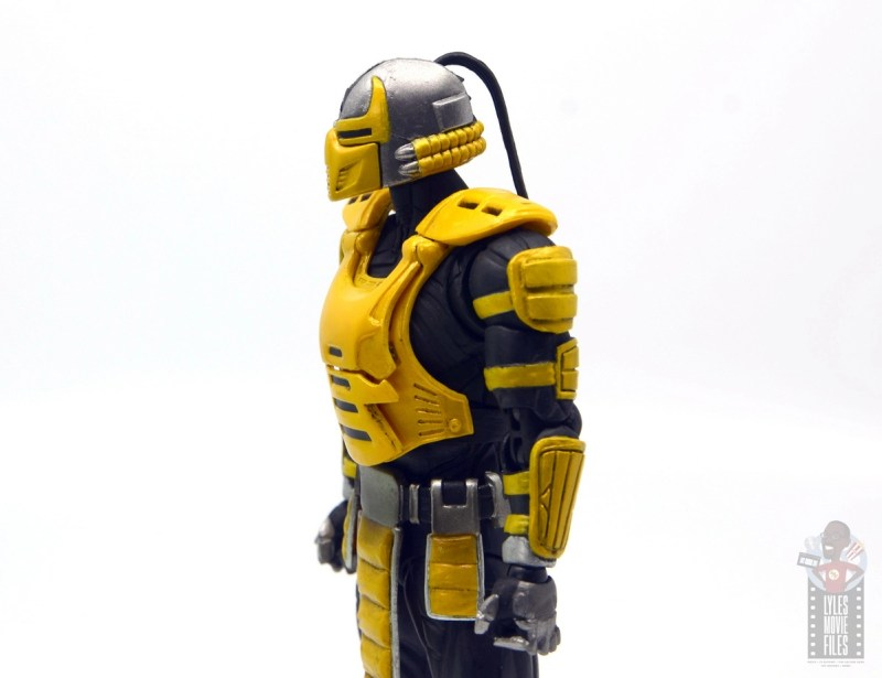 storm collectibles mortal kombat cyrax figure review - helmet side detail