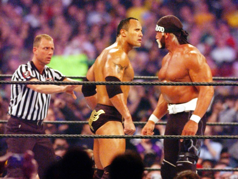 wrestlemania 18 - rock vs hollywood hogan