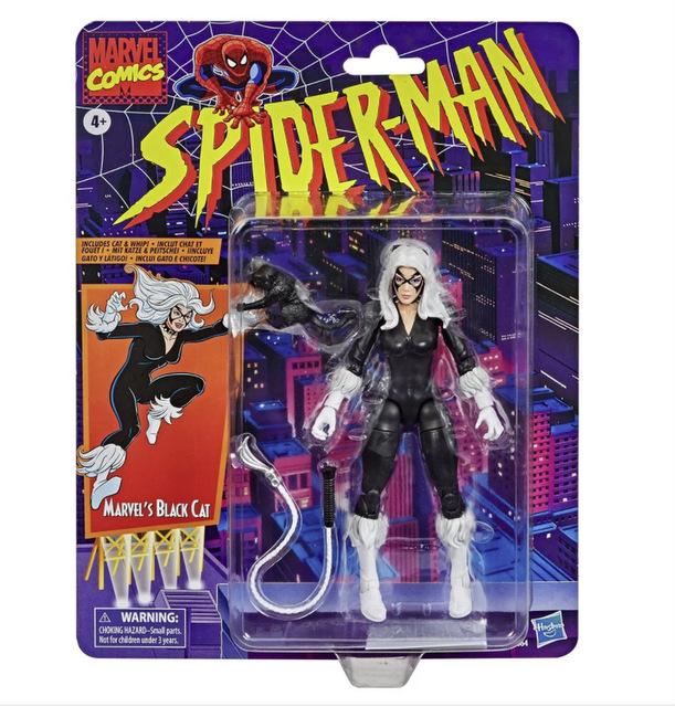 Spider-Man Retro Marvel Legends Black Cat 6-Inch Action Figure - package front