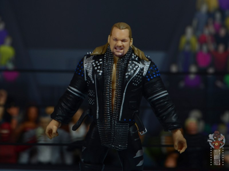aew unrivaled chris jericho figure review - wide shot with ring gear