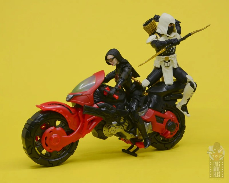 g.i. joe classified series baroness and cobra coil figure review -baroness and storm shadow riding coil