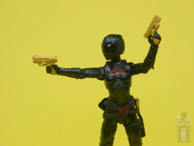 g.i. joe classified series baroness and cobra coil figure review -baroness with helmet aiming guns