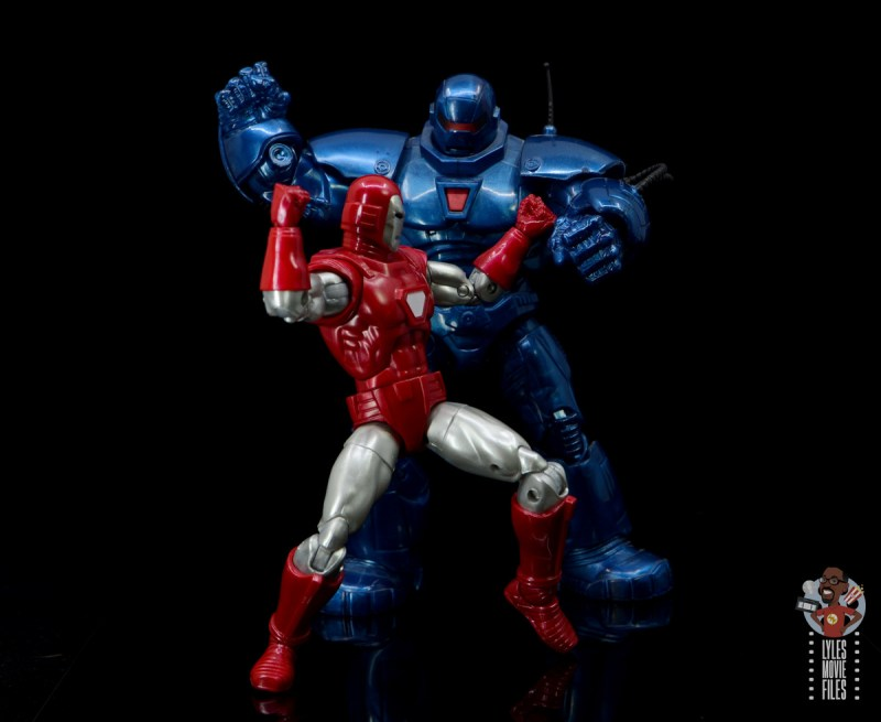 marvel legends silver centurion iron man figure review -face off with iron monger