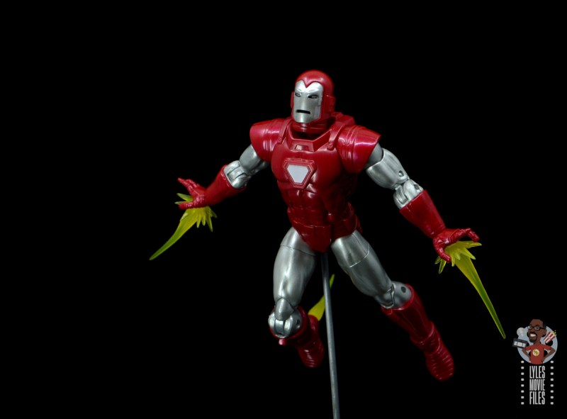 marvel legends silver centurion iron man figure review -flying with repulsors