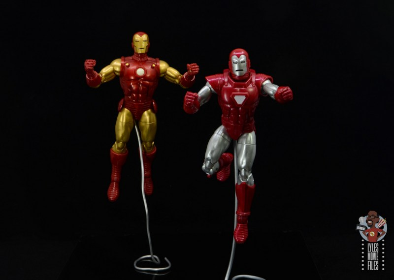 marvel legends silver centurion iron man figure review - flying with rhodey iron man