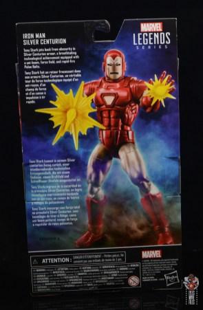 marvel legends silver centurion iron man figure review - package rear